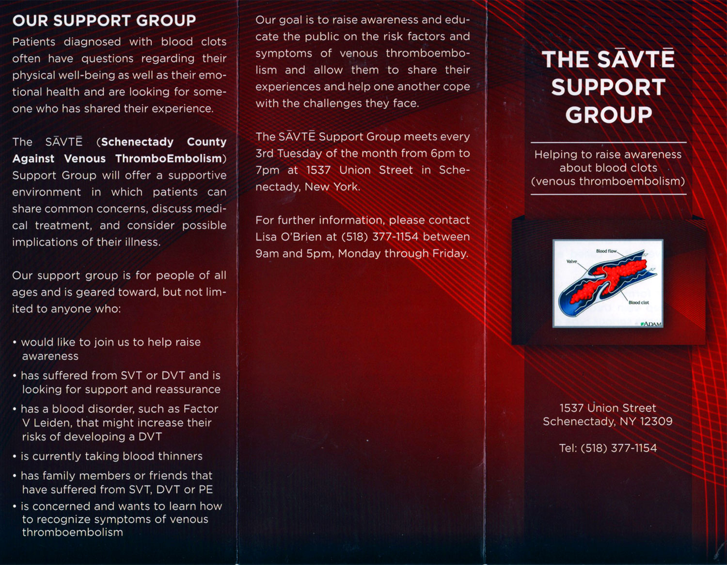 savte blood clot support group